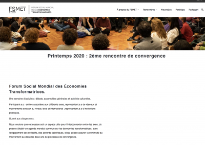 Hem coordinat totes les traduccions del Fòrum Social Mundial de les Economies Transformadores al francès, l'anglès i el portuguès