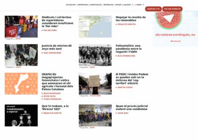 [EN-CA i CA-EN] Hem traduït diversos articles periodístics de la Directa