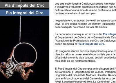 [CA – EN] Hem traduït el dossier de premsa del Pla d'Impuls del Circ